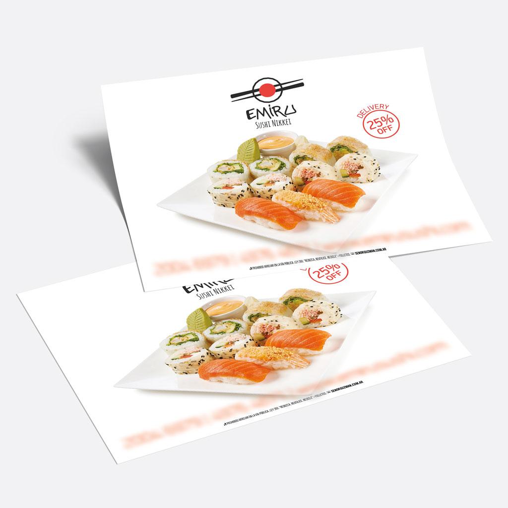 volantes color sushi
